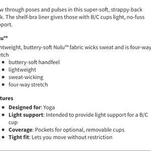 lululemon athletica Tops - 🆕Lululemon Black Grey Free To Be Strappy Tank Top